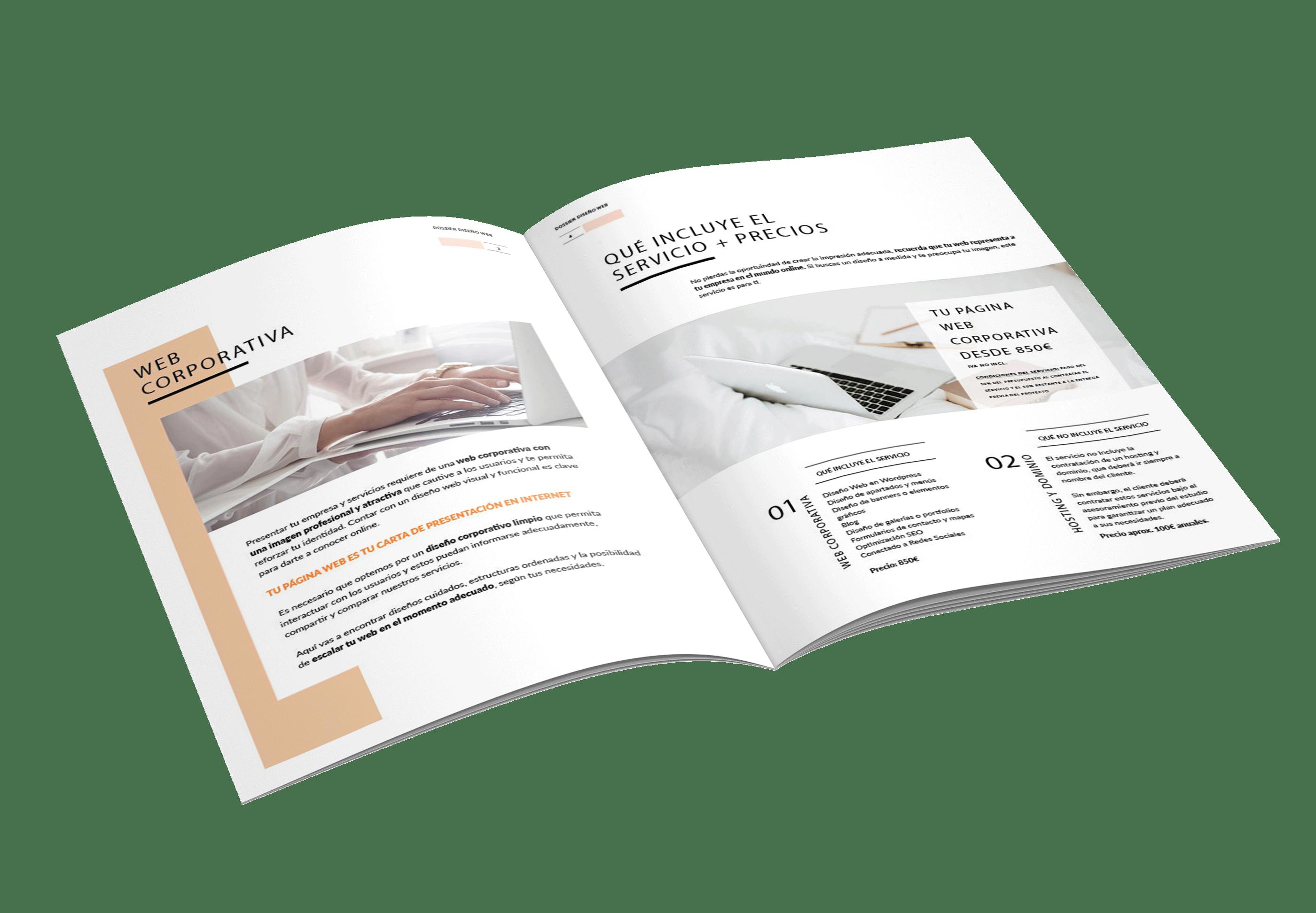 dossier diseño web