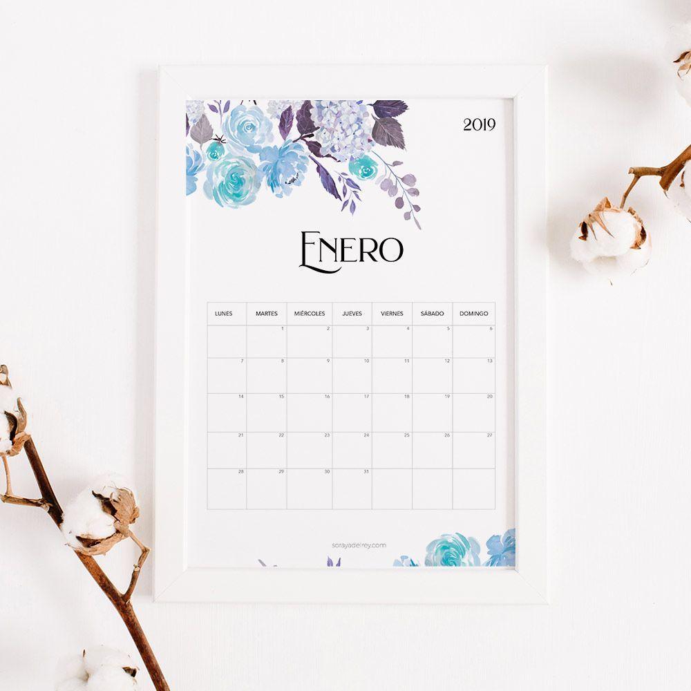 Calendario Para Imprimir 2018 2019 Soraya Del Rey Diseño