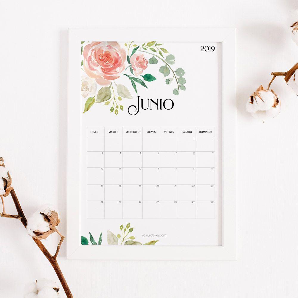 calendario junio imprimir