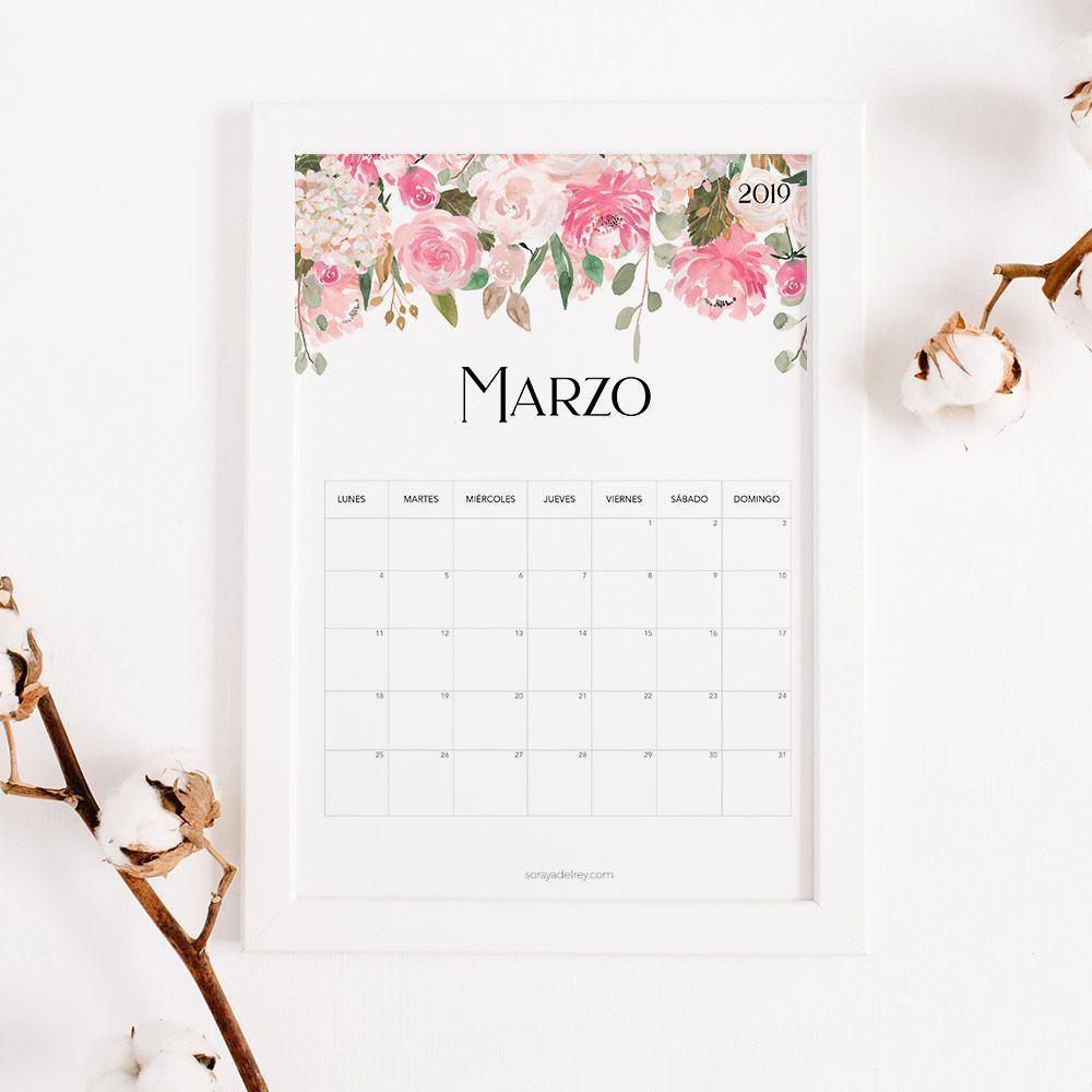calendario marzo imprimir