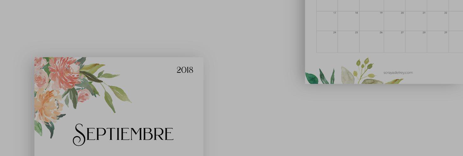 Calendario Para Imprimir 2018 2019 Soraya Del Rey Dise O