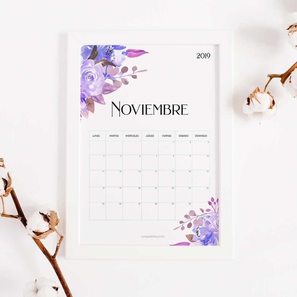 imprimir calendario noviembre 2019