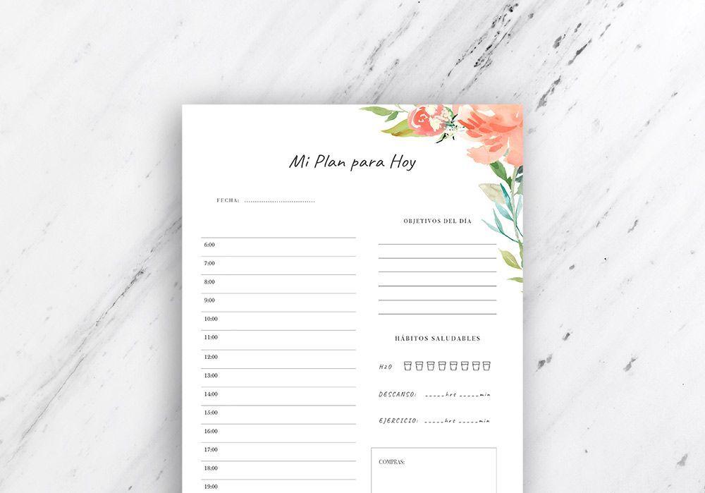 planificador diario para imprimir
