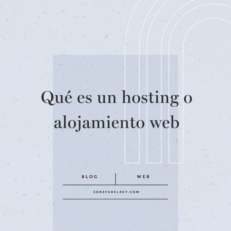 Lee más sobre el artículo Qué es un hosting o alojamiento web