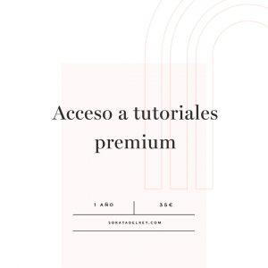 Acceso a tutoriales premium (1 año)